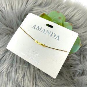 NWT Marina De Buchi Amanda Nameplate Bracelet